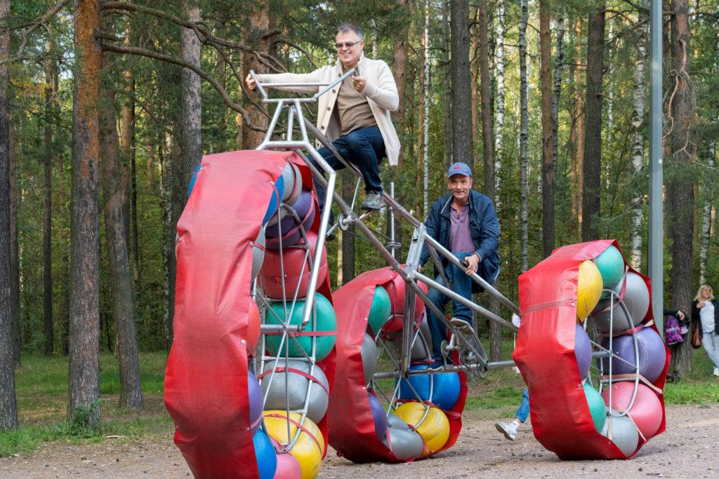Жители МО Светлановское на концерте в парке Сосновка