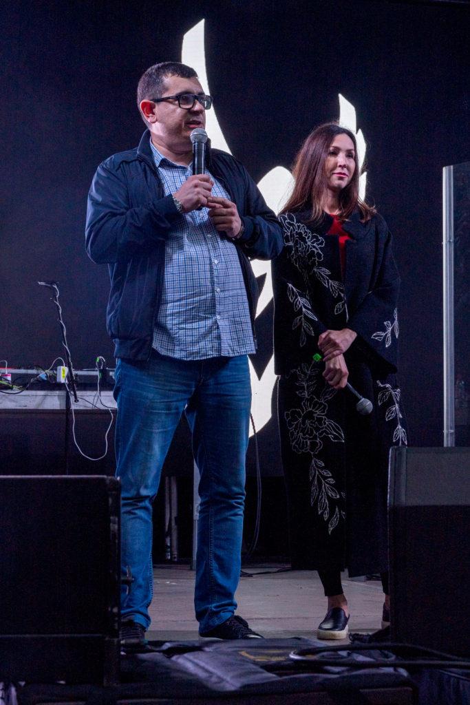 Глава Администрации МО Светлановское Сергей Кузьмин и Глава МО Светлановское Янина Евстафьева